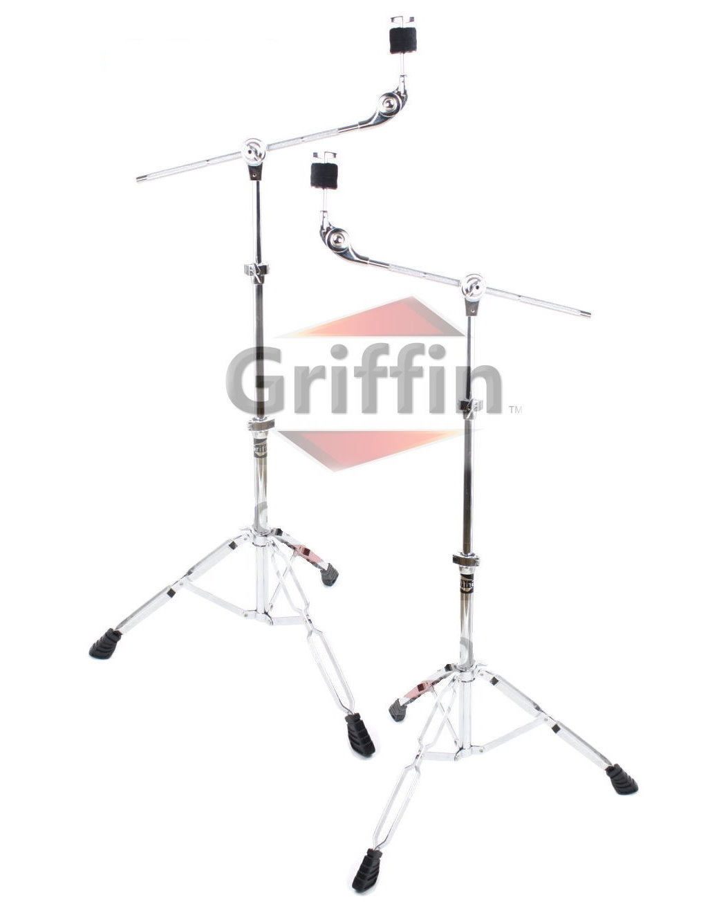 Boom Cymbal Stands Drum Hardware 2 Pack by Griffin