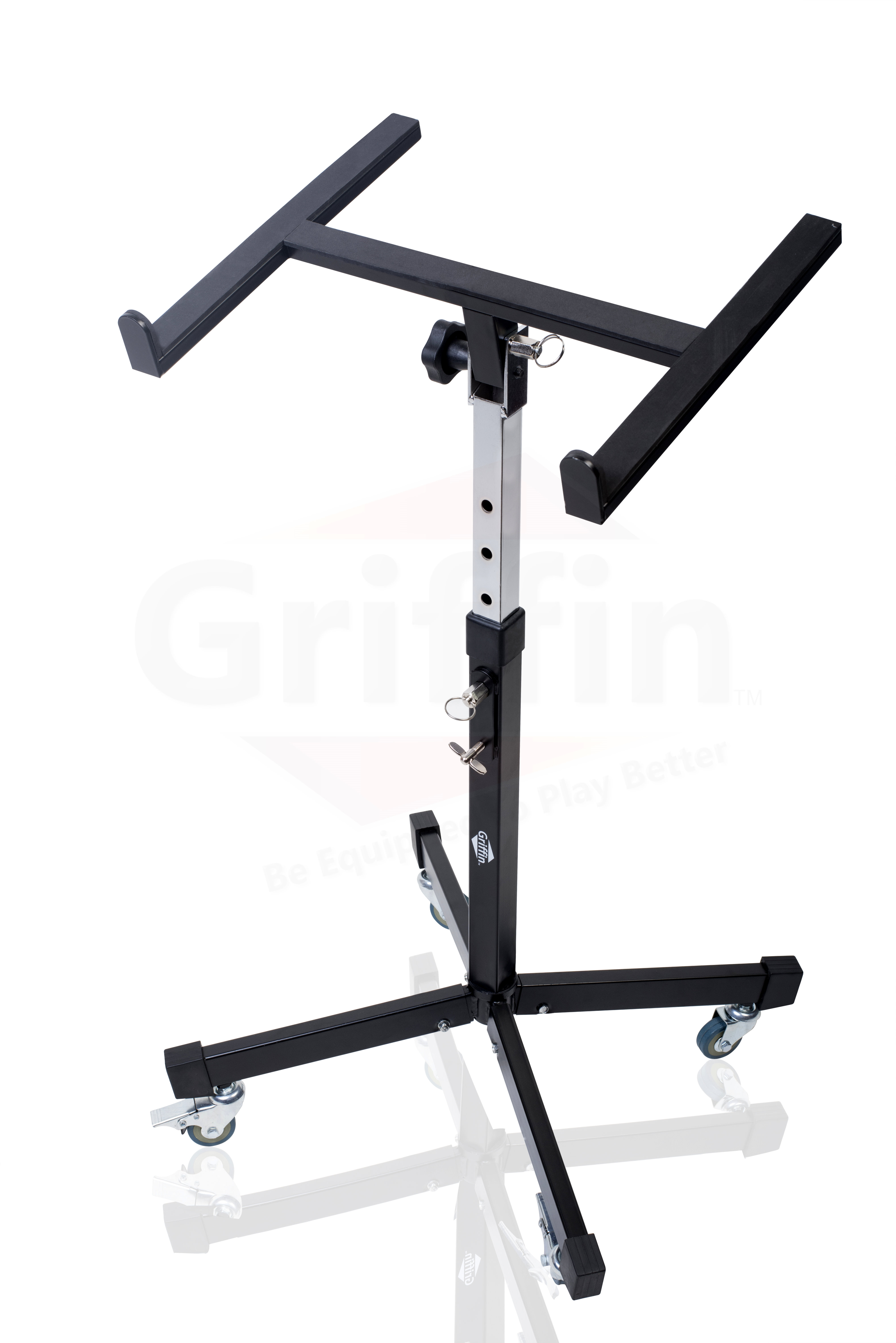 mobile studio mixer stand dj cart by griffin rolling standing rack on casters ace division inc. Black Bedroom Furniture Sets. Home Design Ideas