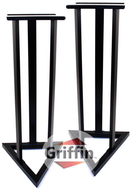 Studio Monitor Speaker Stands Heavy-Duty Surround Sound Satellite for Home Theater Pair by Griffin