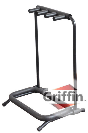 Triple Guitar Stands Multi Multiple Guitar Rack 3 Holder Folding Stand by Griffin