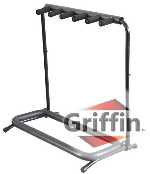 Multi Guitar Stands 5 Five Rack Stand Folding Holder on Stage by Griffin