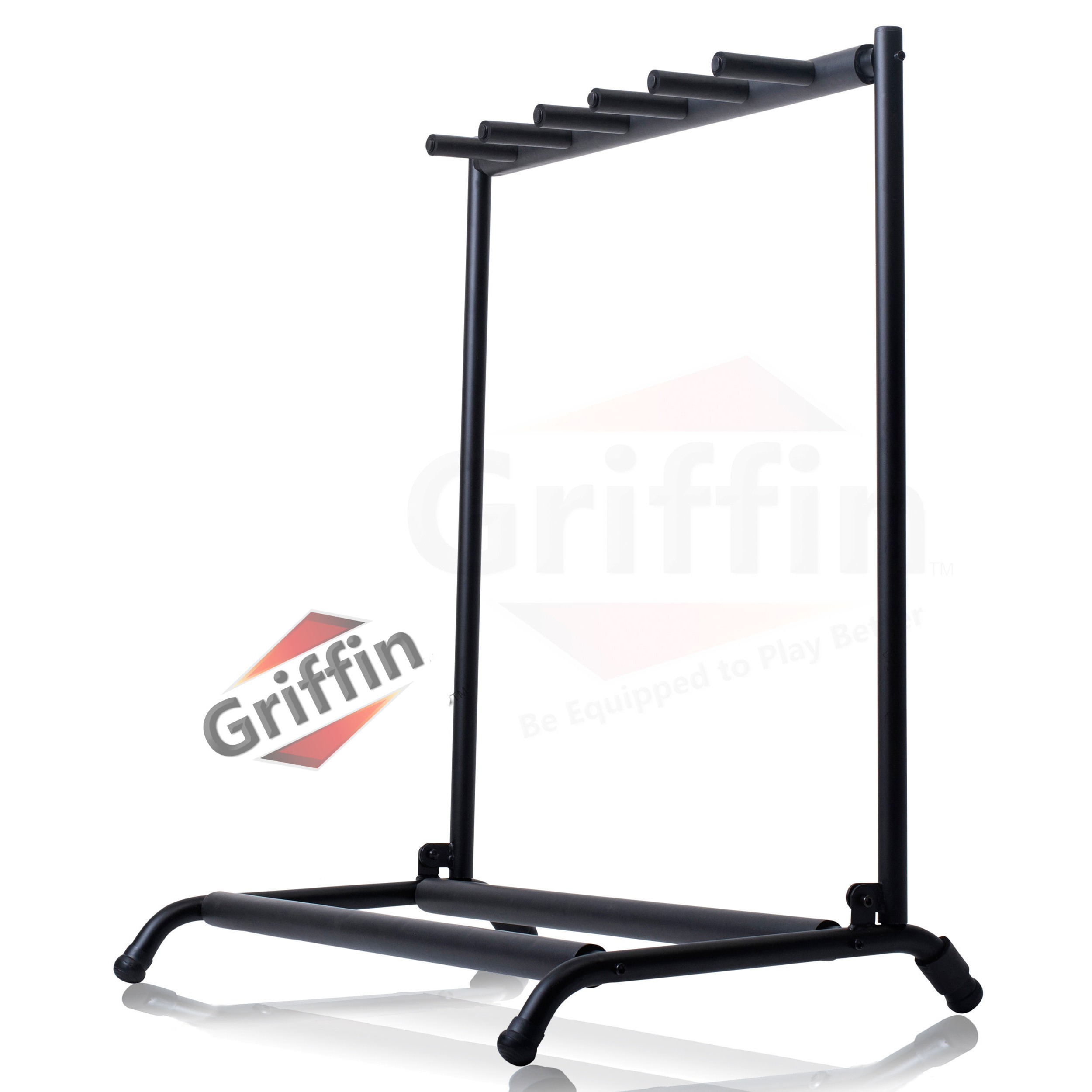 Multi Guitar Stand 5 Five Rack Stand Folding Holder on Stage by Griffin