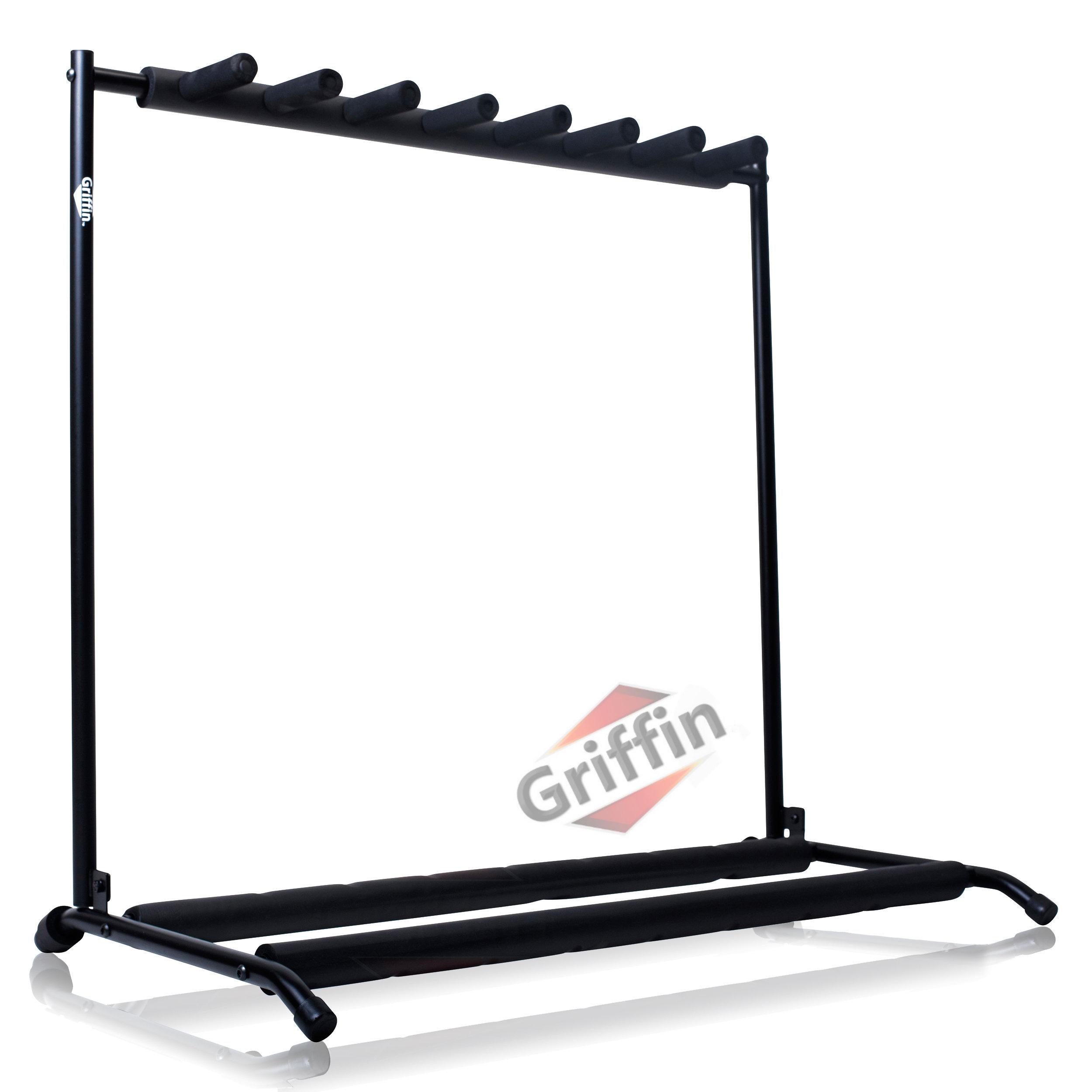 7 guitar rack stand griffin seven multiple stage storage bass holder mount dj ebay. Black Bedroom Furniture Sets. Home Design Ideas