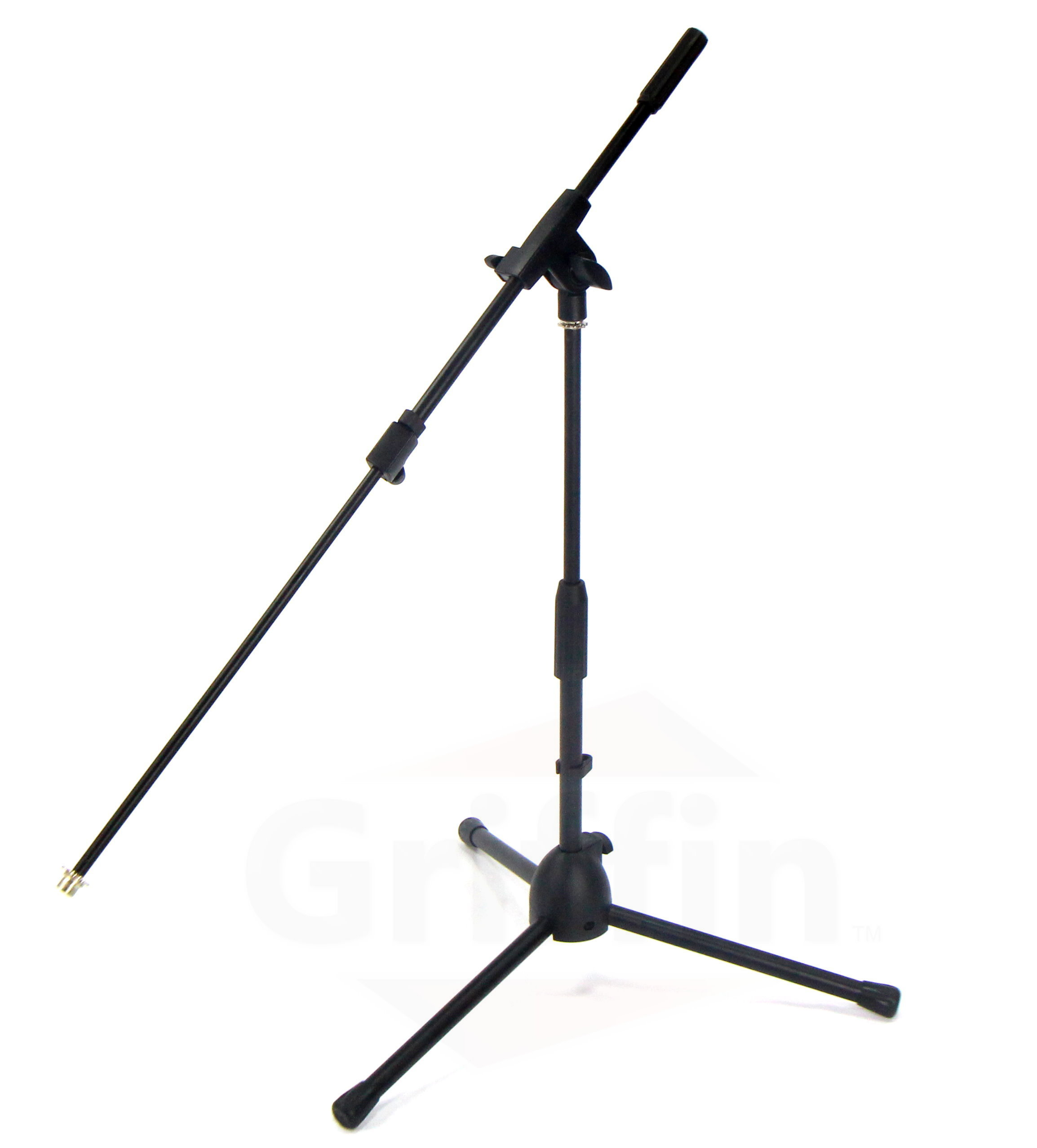 Short Microphone Boom Stand Low Profile Mic Holder