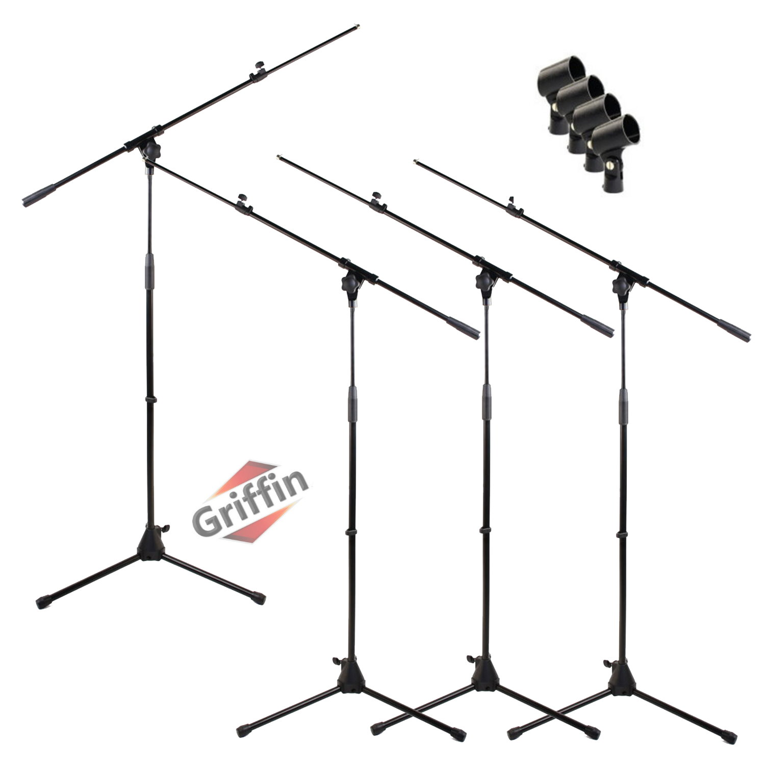 Microphone Stand Pack with Mic Clips Package of 4 by Griffin