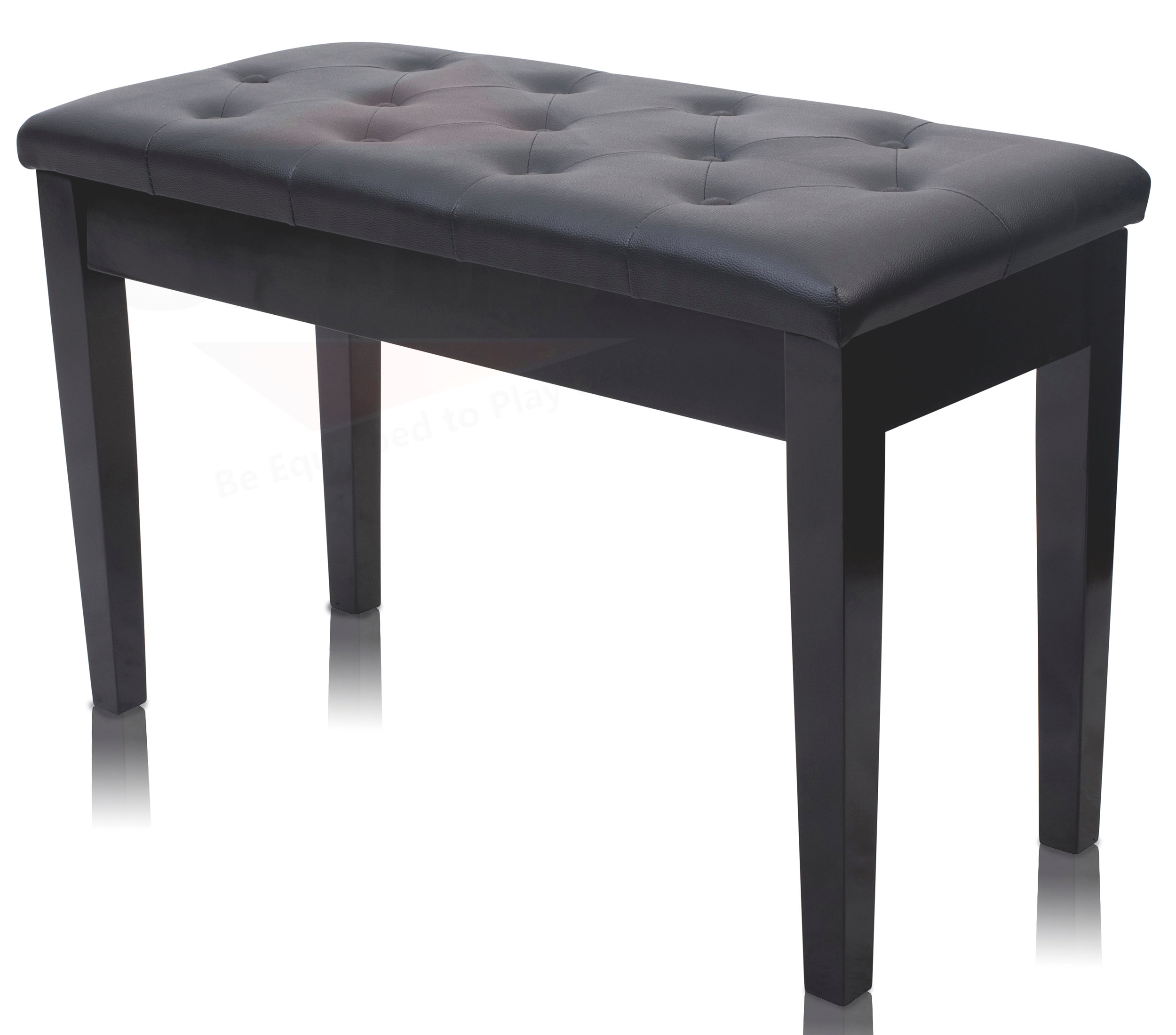 Black Piano Bench With Storage By Griffin Leather Wood
