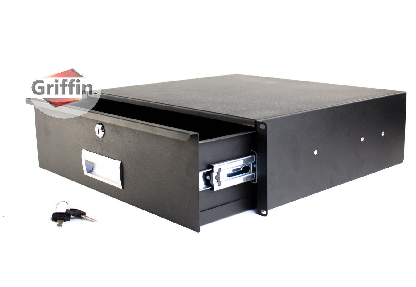 3u rack mount studio gear sliding drawer shelf 16 deep. Black Bedroom Furniture Sets. Home Design Ideas