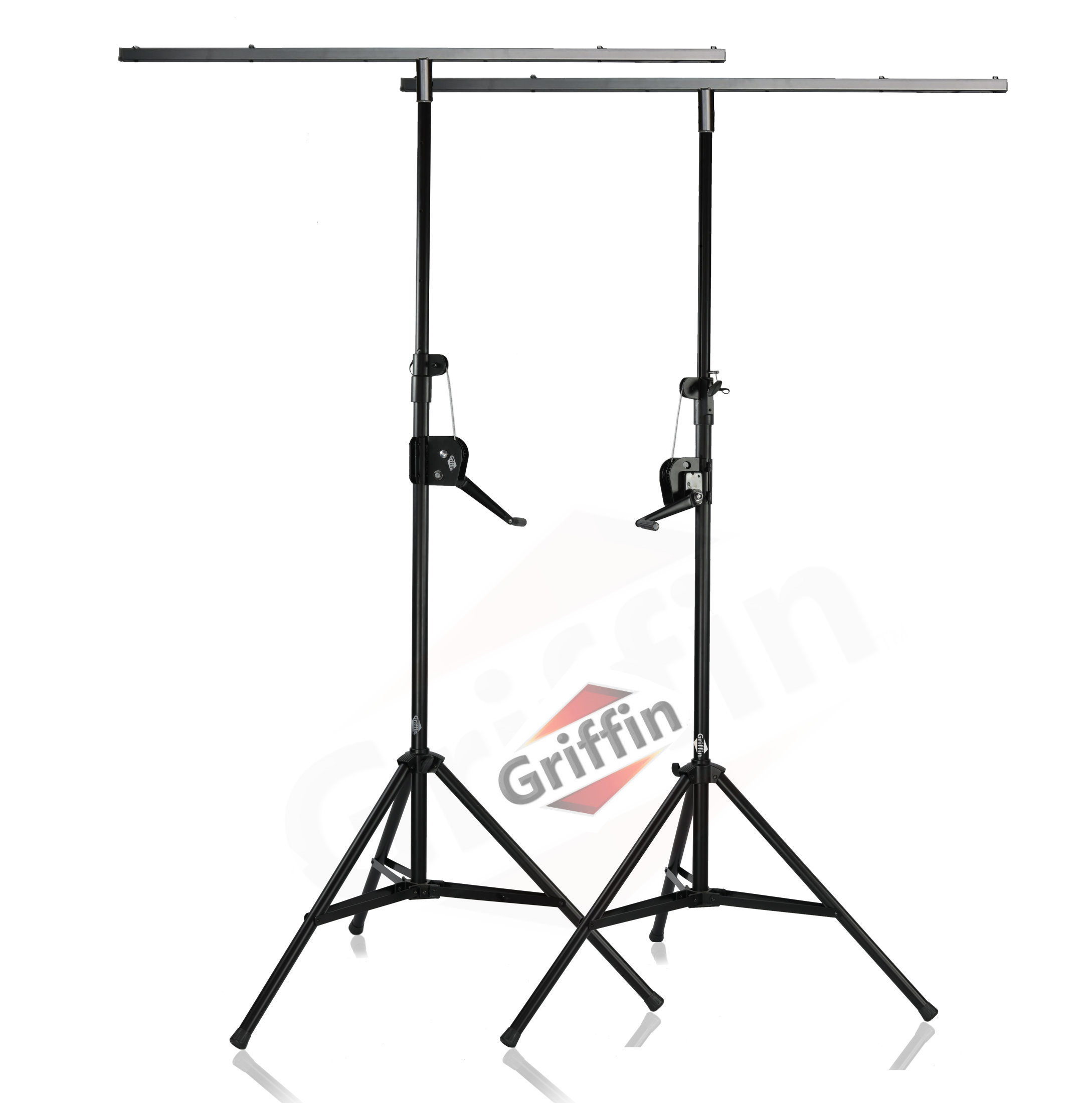pair 2 crank up truss light stage speaker stand pa trussing lighting pro audio ebay. Black Bedroom Furniture Sets. Home Design Ideas