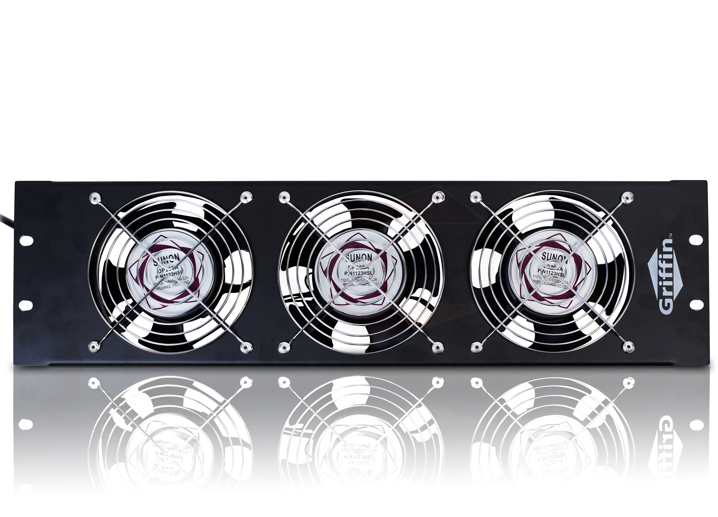 Rackmount Triple Cooling Fans Rack Panel 3U for Studio Equipment Mount  #7D2C2F