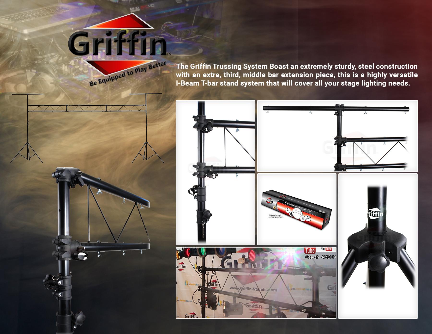 dj light truss stand system trussing i beam lighting stage pa speaker t bar 797734483512 ebay. Black Bedroom Furniture Sets. Home Design Ideas