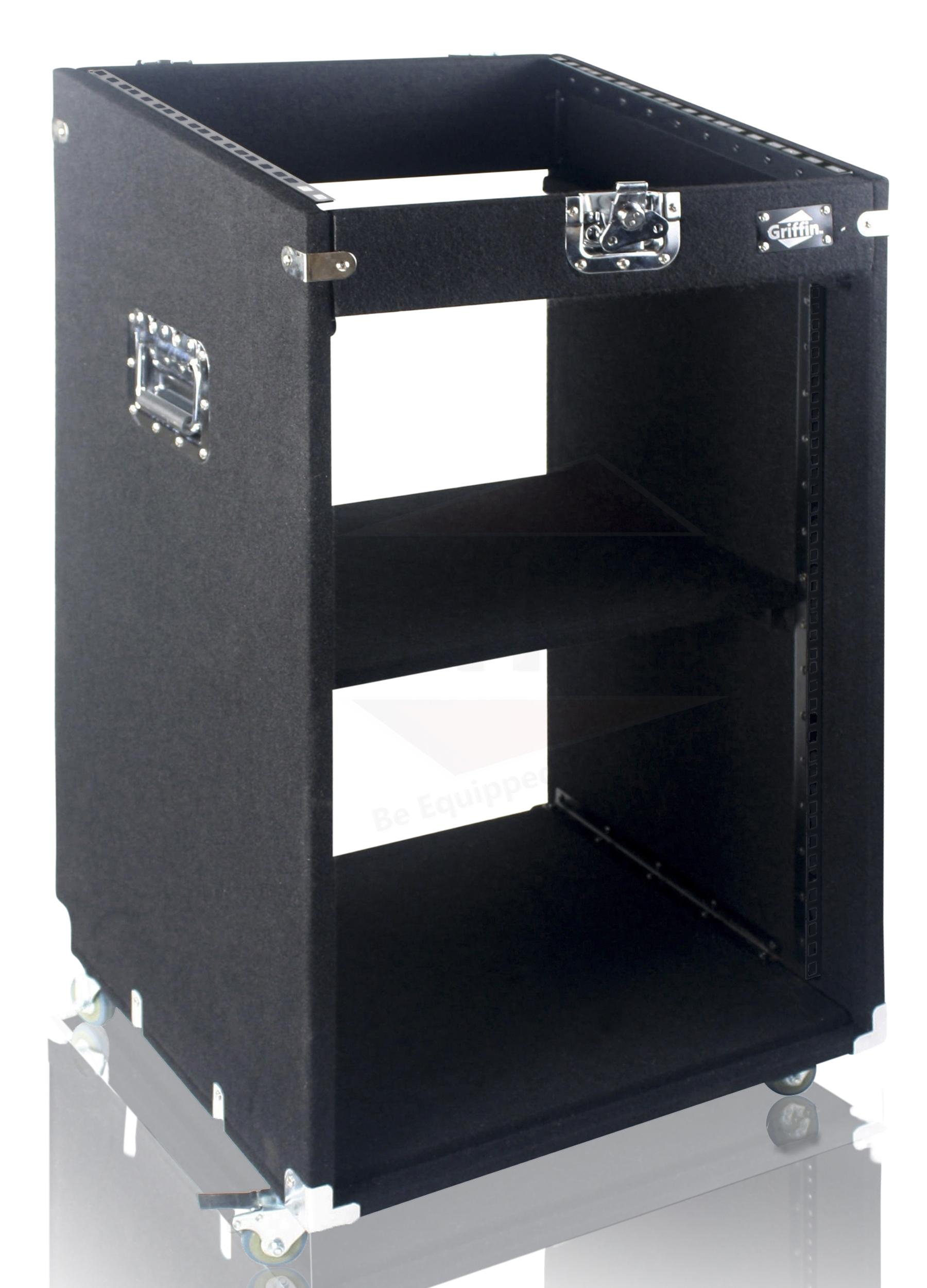 Rack Mount Cabinet Flight Case Studio Mixer Dj Pa Cart