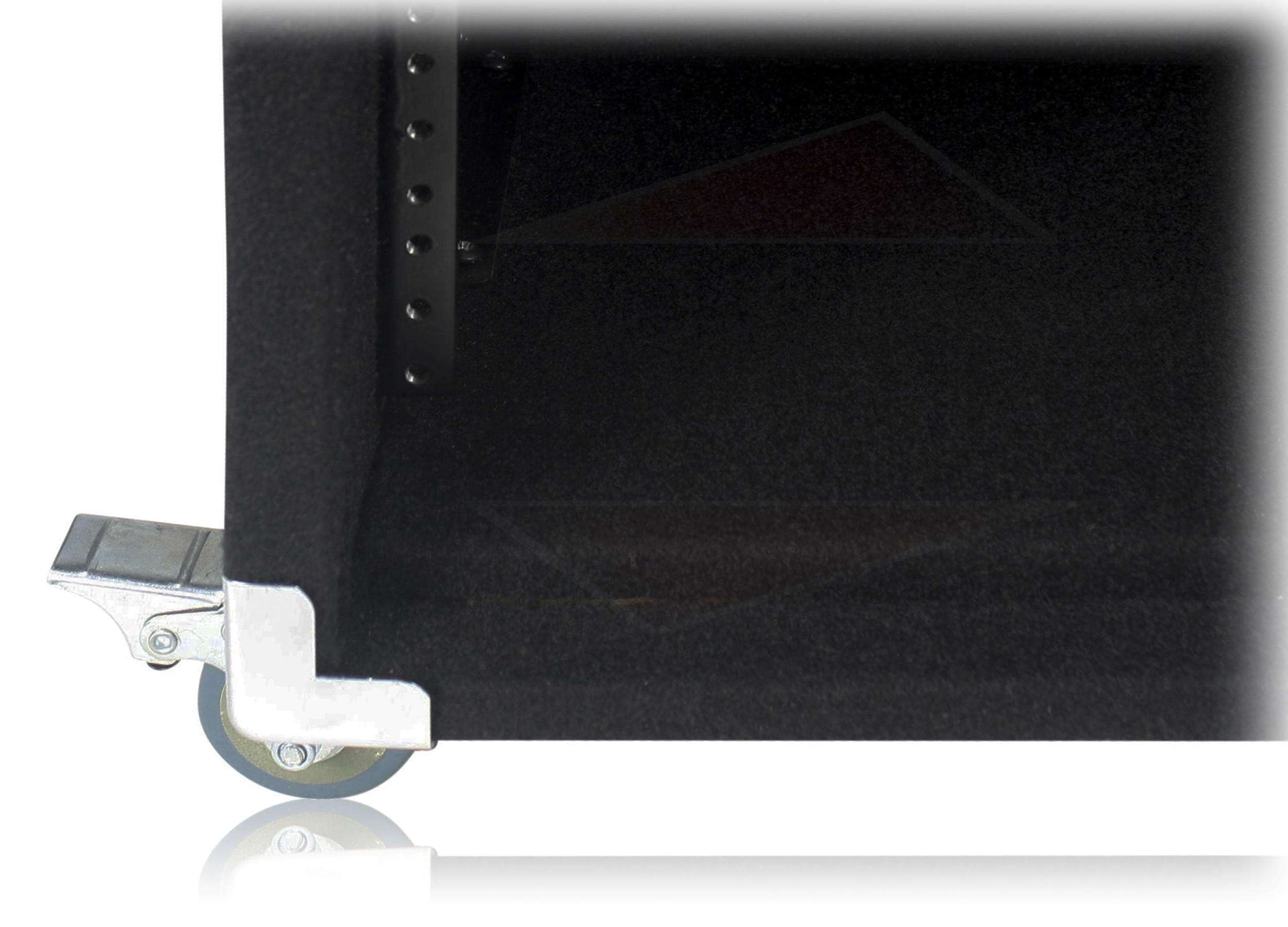 u rack mount studio mixer cabinet road case stand dj includes a set of rack mounting bolts
