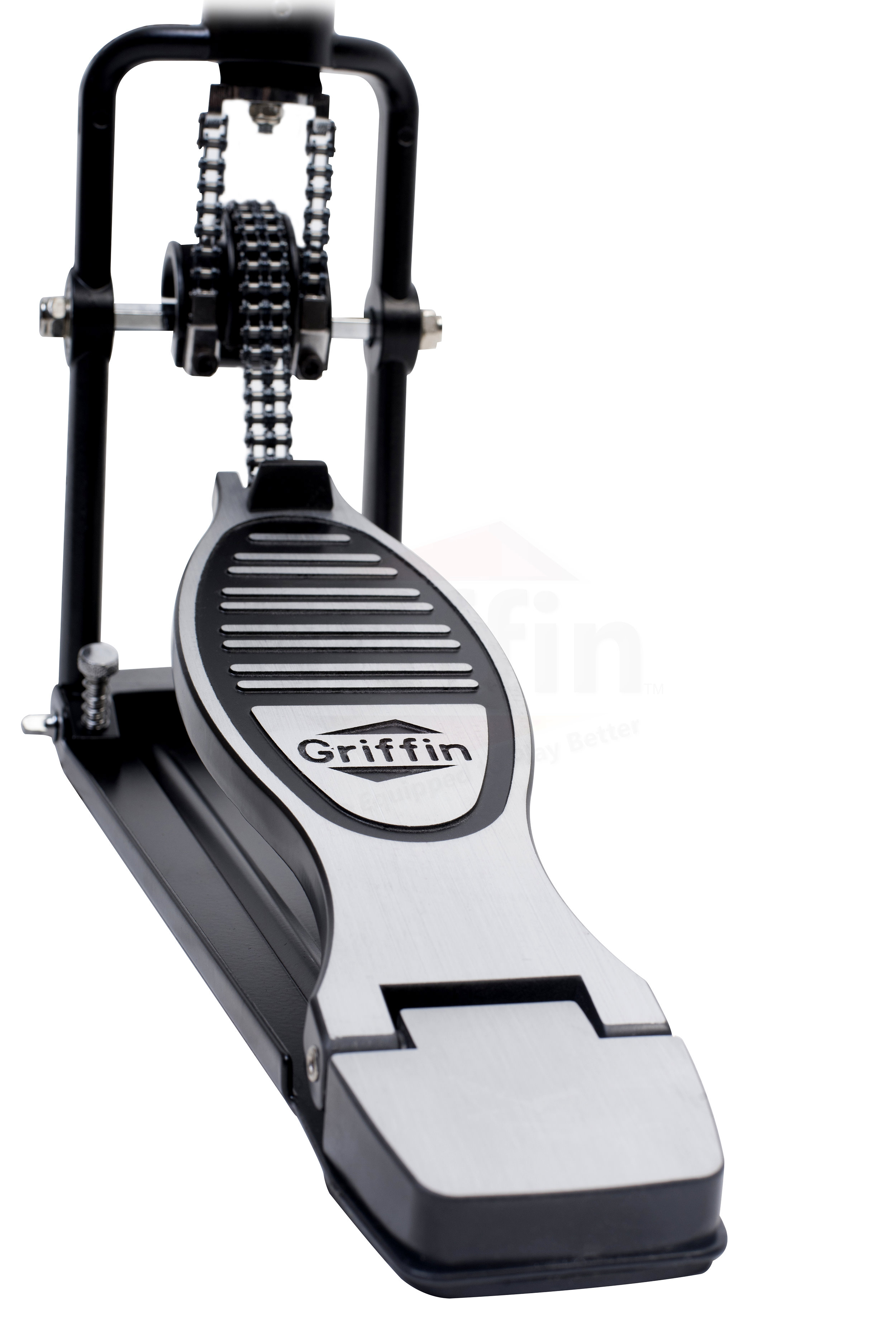 remote hi hat cymbal stand pedal heavy duty hihat drum hardware by griffin ebay. Black Bedroom Furniture Sets. Home Design Ideas