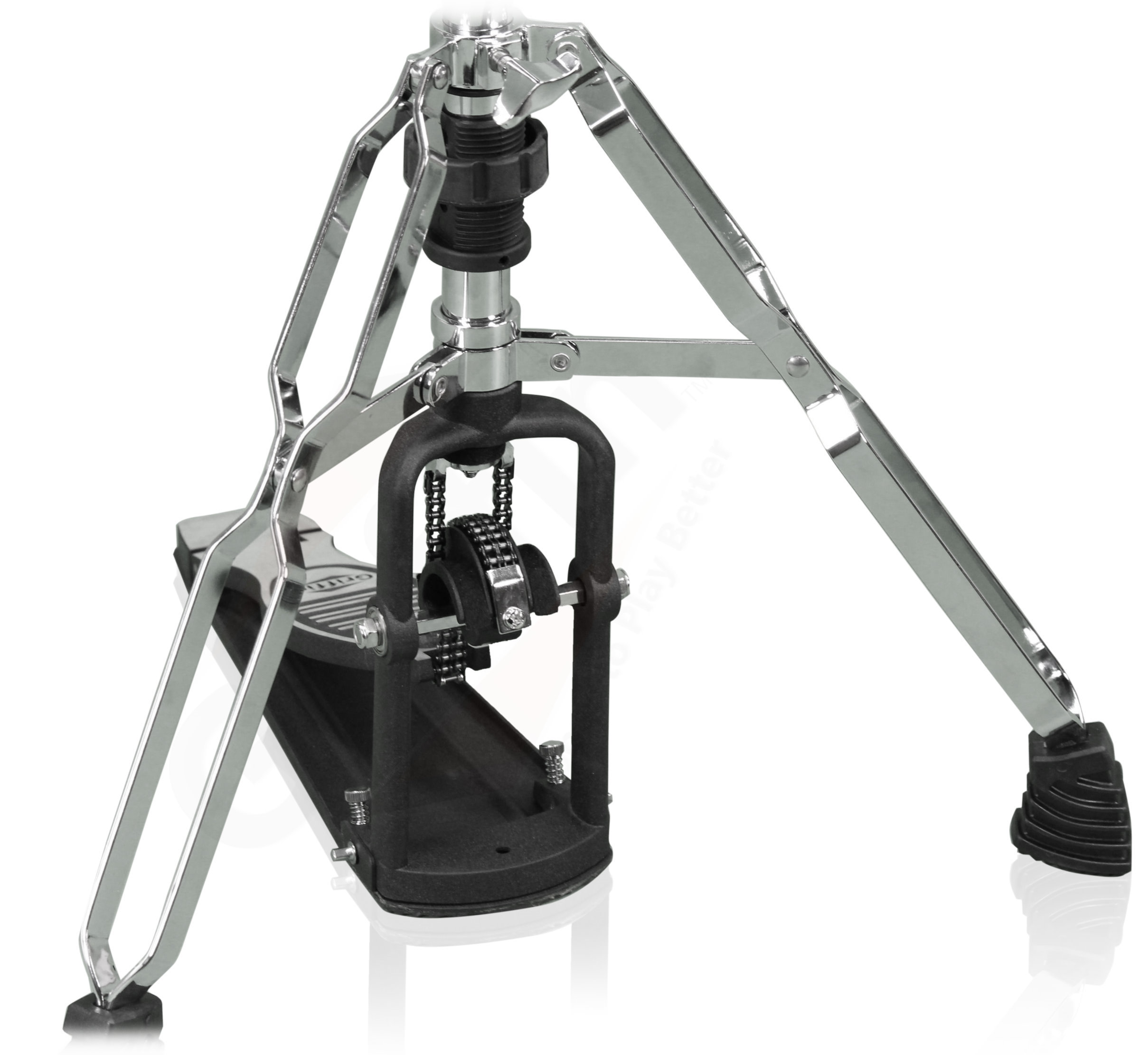 2 leg hi hat stand by griffin converts to no leg hihat pedal ace division inc. Black Bedroom Furniture Sets. Home Design Ideas