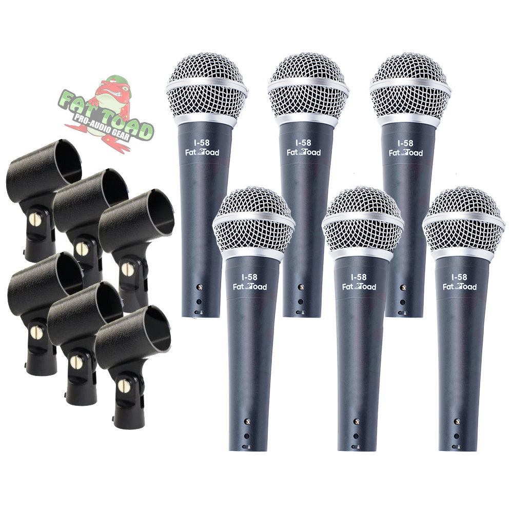 Hand-Held Cardioid Microphones Pack Dynamic Mic Pack of 6 by Griffin