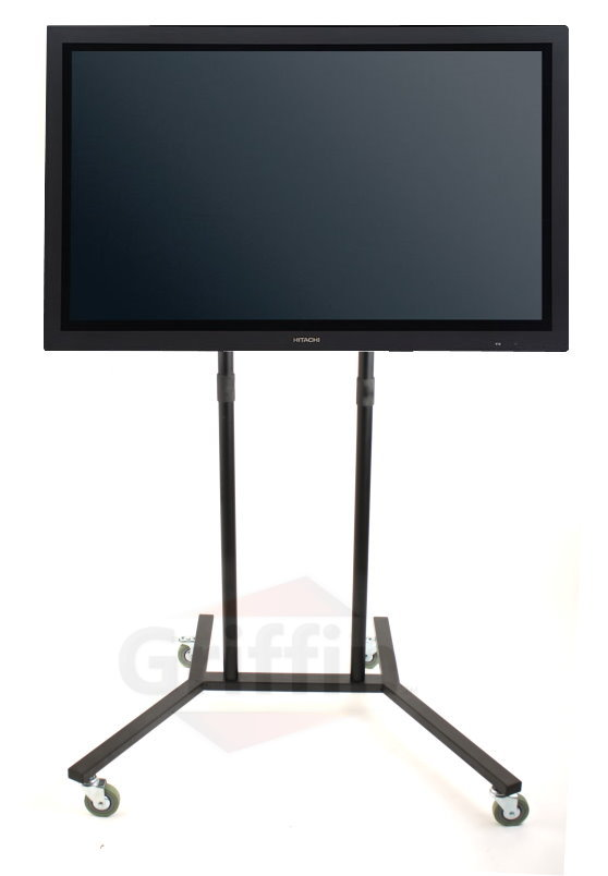 Mobile Lcd Plasma Tv Av Cart Stand Mount On Wheels 60 Ebay