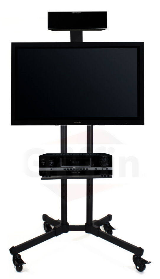 Lcd Tv Cart Stand Rolling Av Plasma Flat Panel Screen