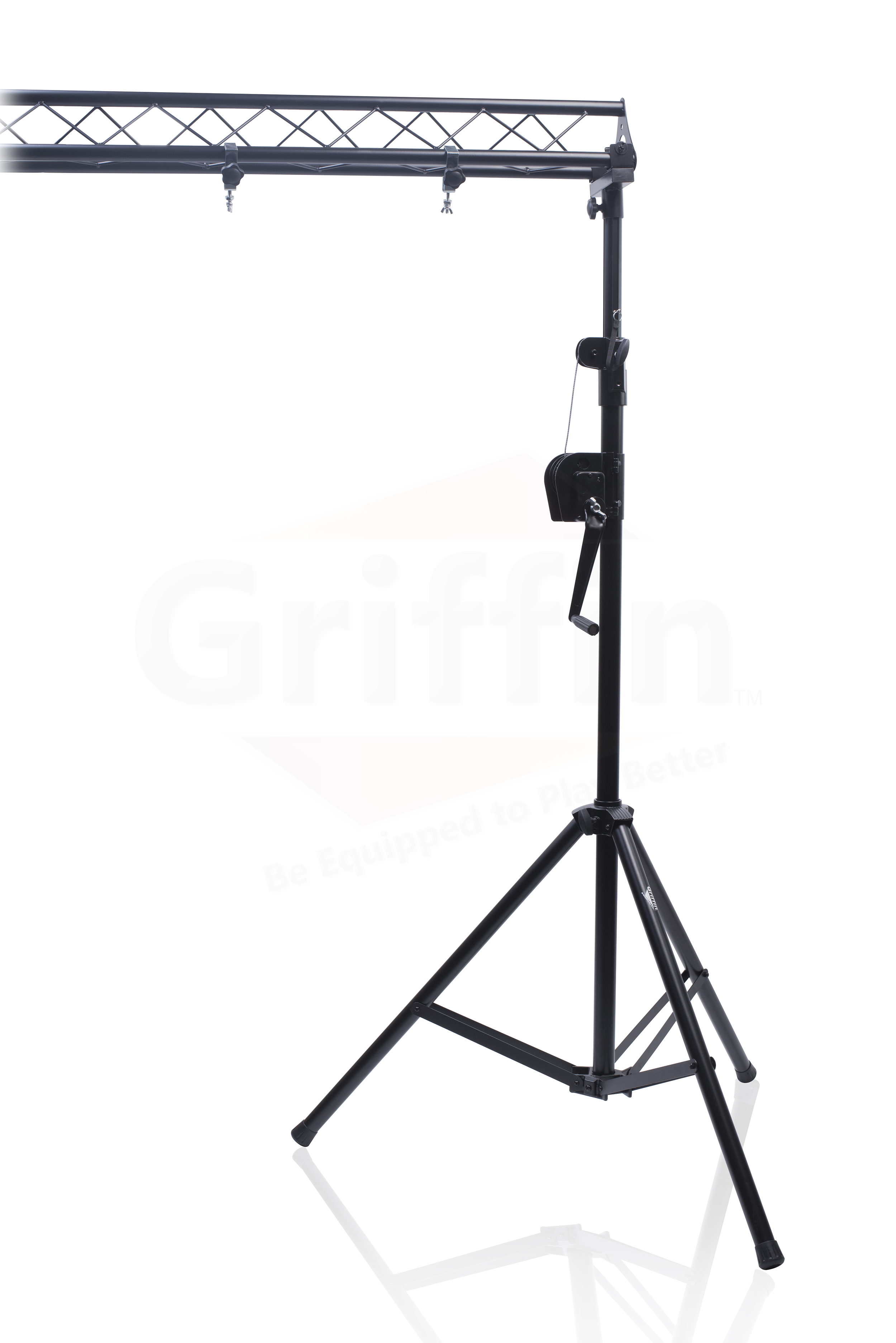 crank up triangle truss light stand system dj lighting trussing stage mount pa ebay. Black Bedroom Furniture Sets. Home Design Ideas