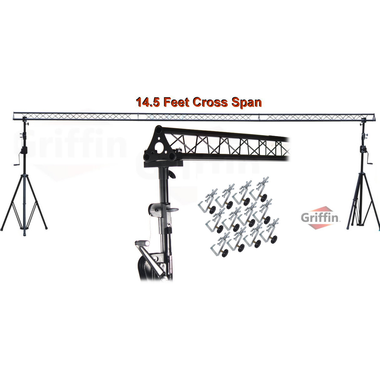 Crank Up Triangle Truss Light Stand System Dj Lighting