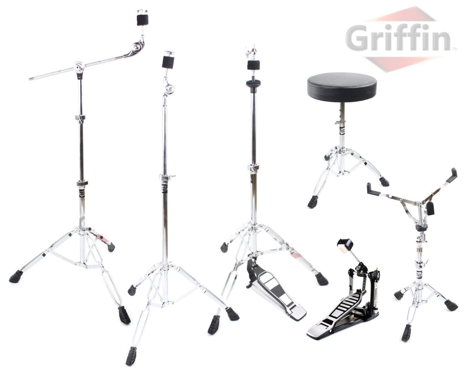 Drum Hardware Pack 6-Piece Stand Package by Griffin MS Series