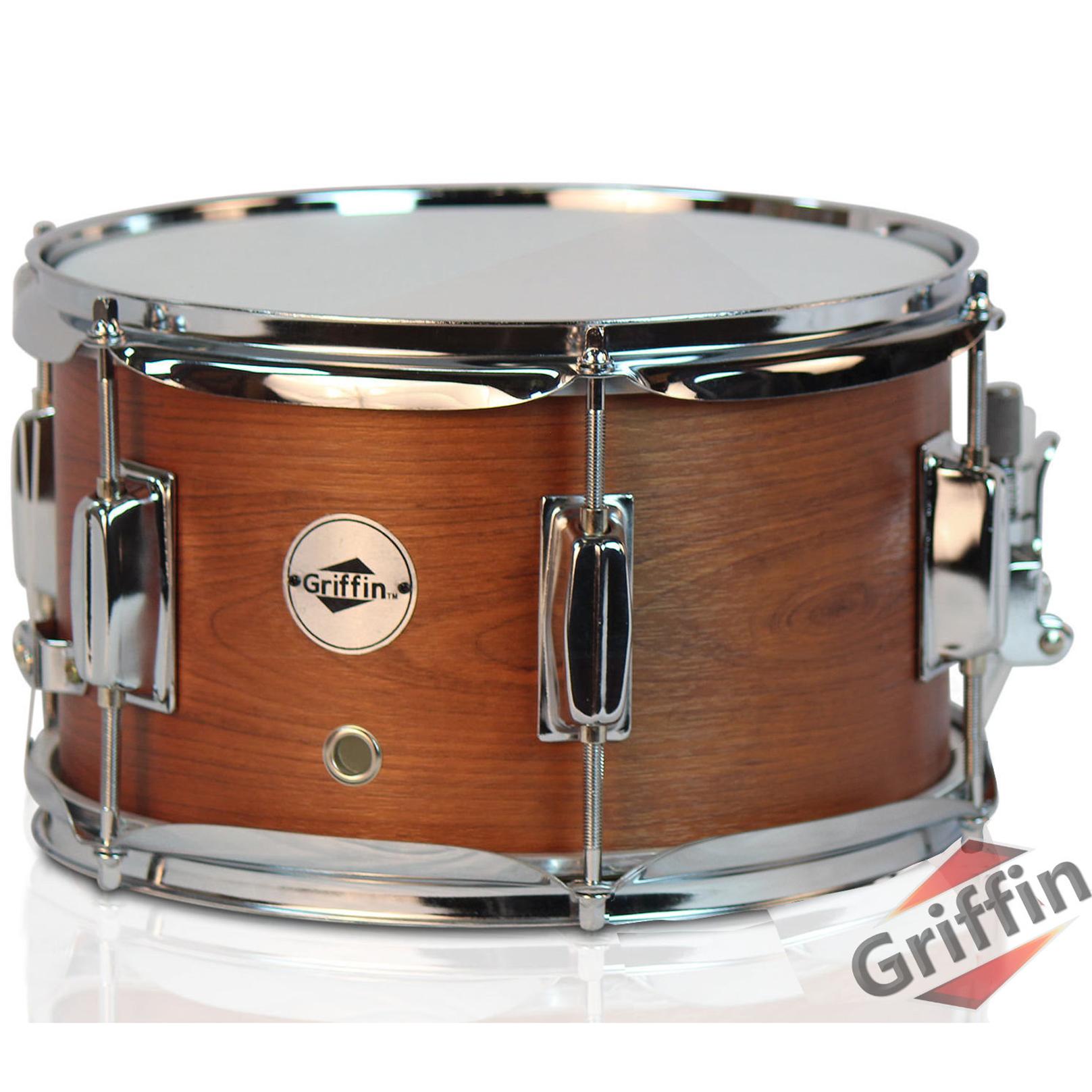 griffin firecracker snare drum popcorn 10x6 poplar wood shell percussion ebay. Black Bedroom Furniture Sets. Home Design Ideas