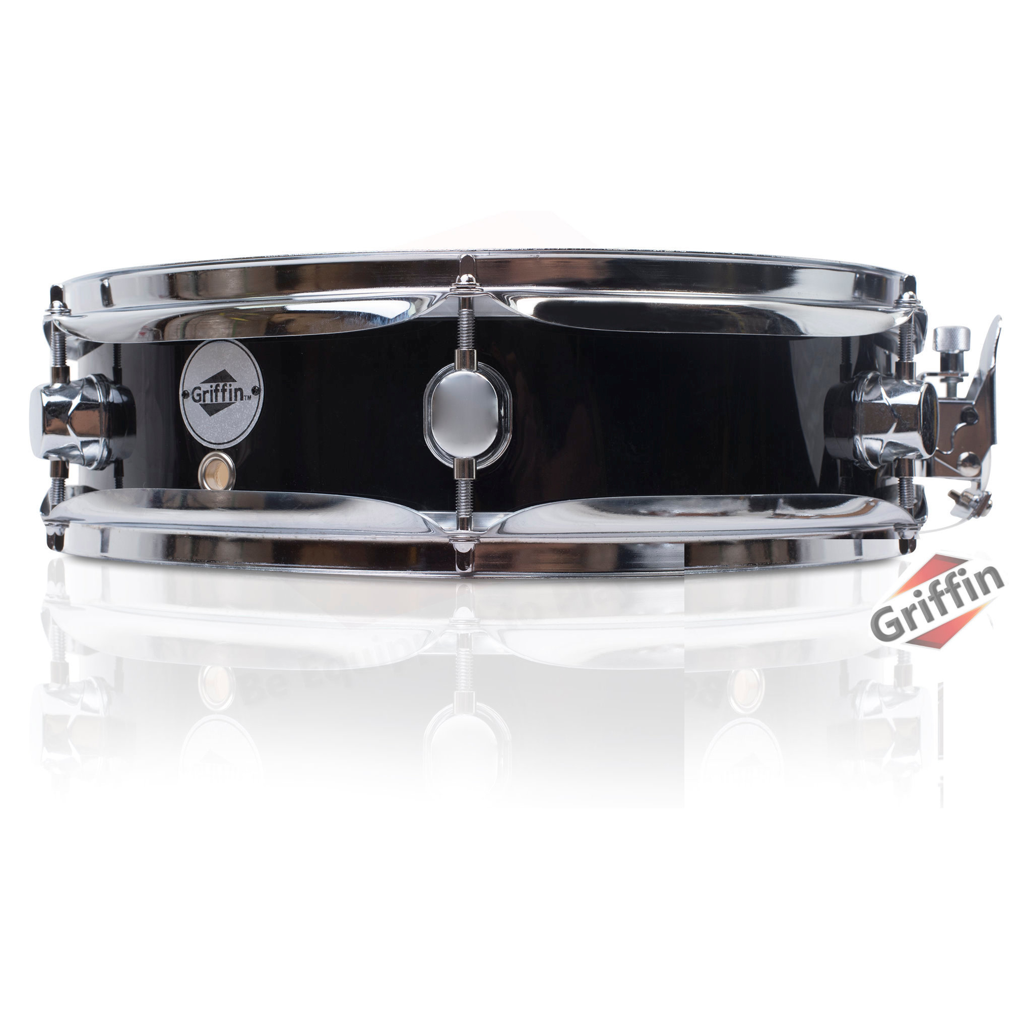 "Piccolo Snare Drum Black Wood Shell 13"" x 3.5"" Griffin"