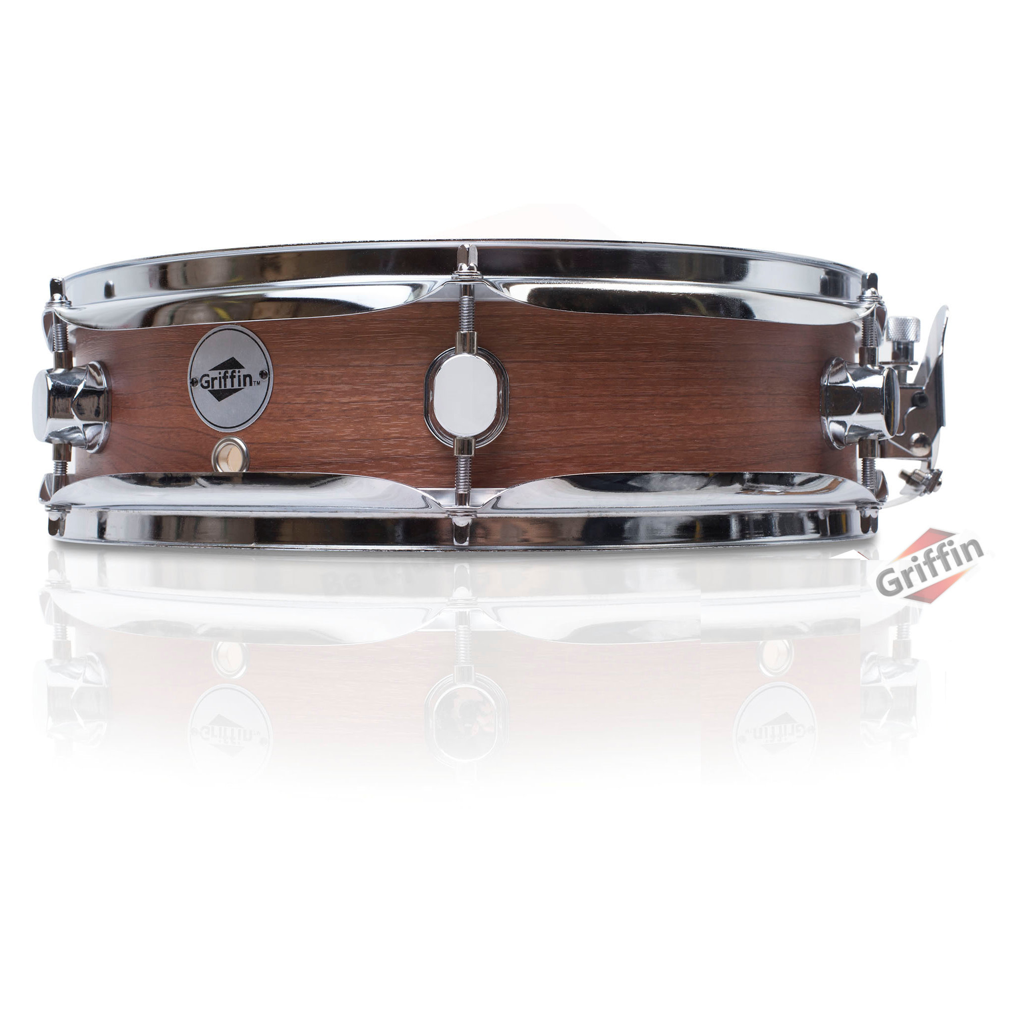 Griffin piccolo snare drum 13x3 5 dark wood shell for Hickory flat