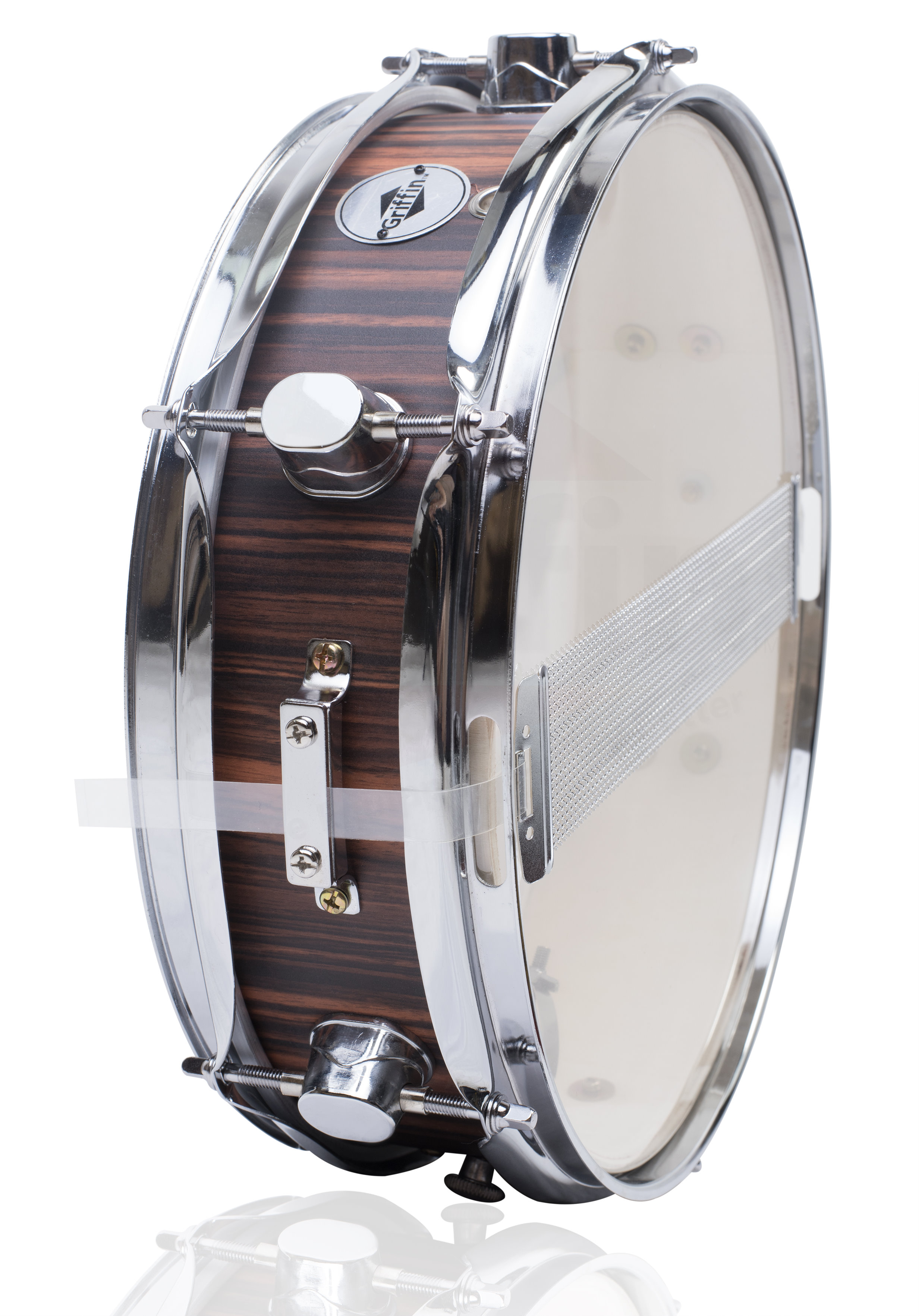 griffin piccolo snare drum 13 x 3 5 black hickory poplar wood shell percussion ebay. Black Bedroom Furniture Sets. Home Design Ideas