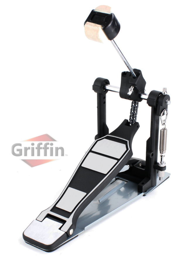 Single Kick Drum Pedal for Bass Drum Chain-Drive by Griffin