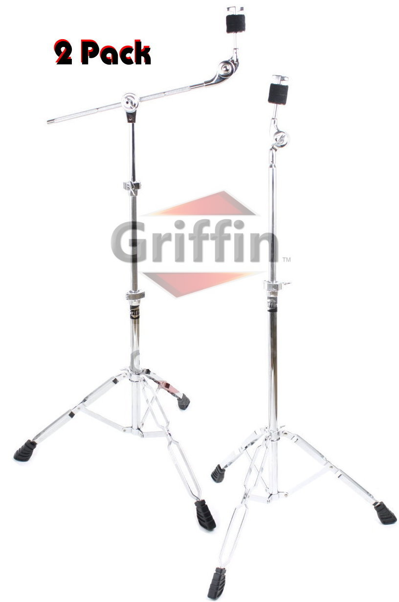 Cymbal Stand Package Boom Cymbal Stand & Straight Cymbal Stand Double Braced by Griffin