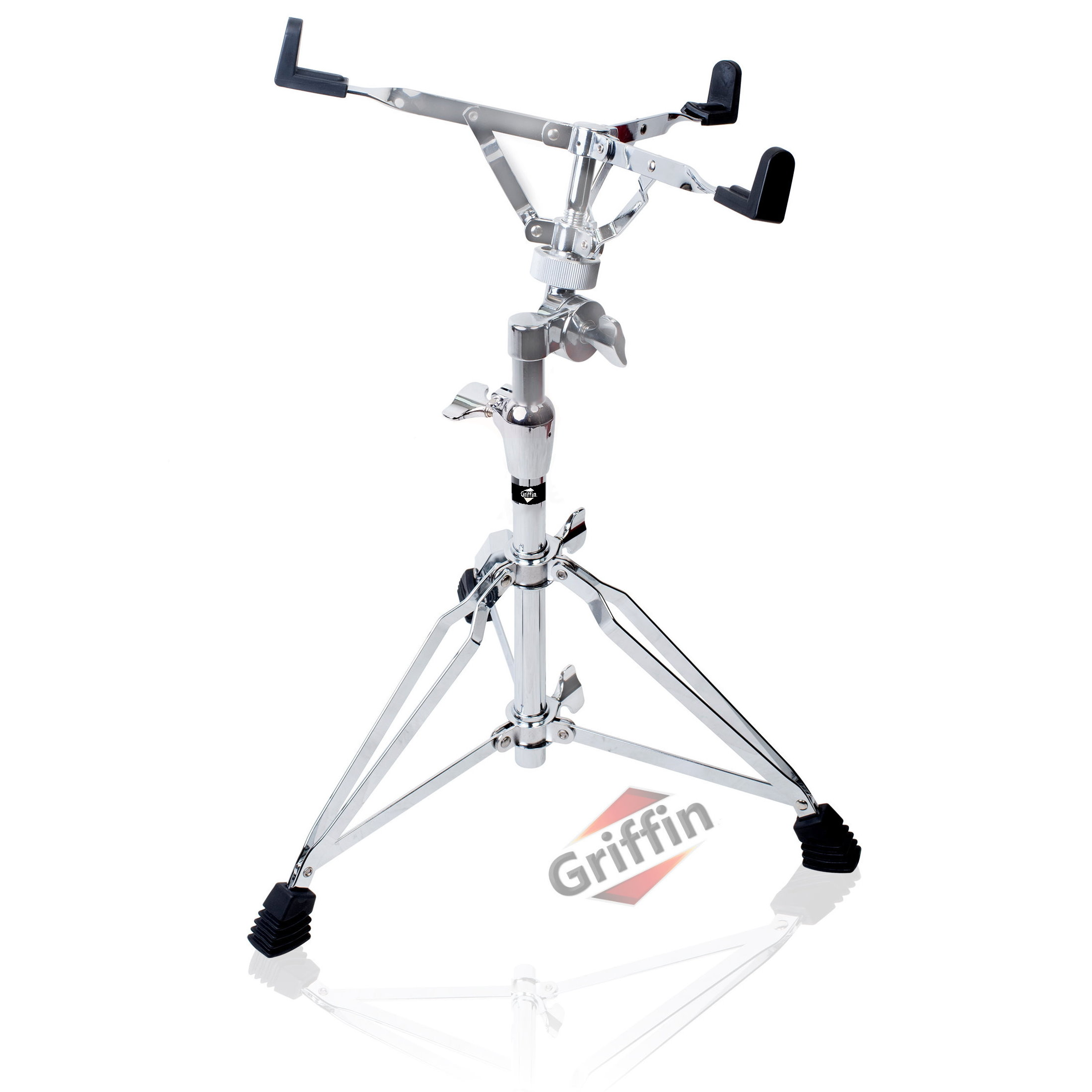 Snare Stand for Snare Drum Double-Braced Chrome by Griffin