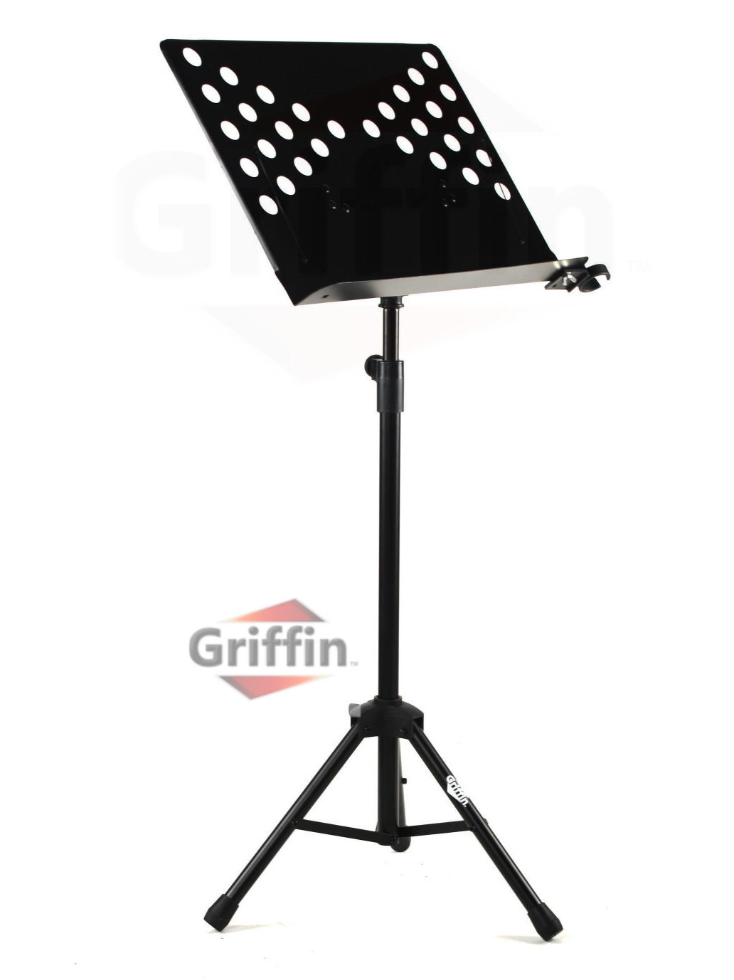 Conductor Music Stand Sheet Metal Folding Deluxe Holder by Griffin