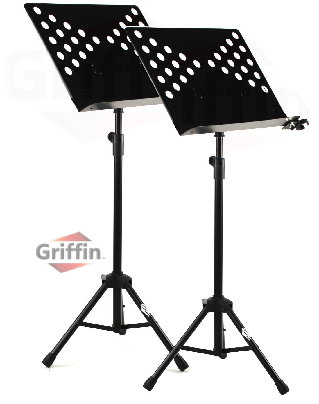 2 pack music stand deluxe conductor sheet metal tripod for Stand pack