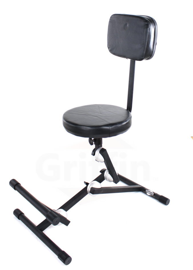 Adjustable Keyboard Throne Piano Bench Guitar Chair Back