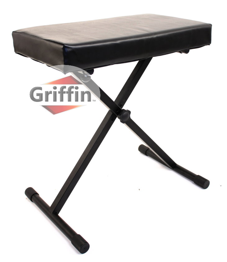Padded Keyboard Bench Deluxe Folding Seat by Griffin
