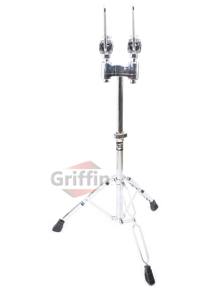 Double Tom Drum Stand Heavy-Duty Hardware Mount by Griffin