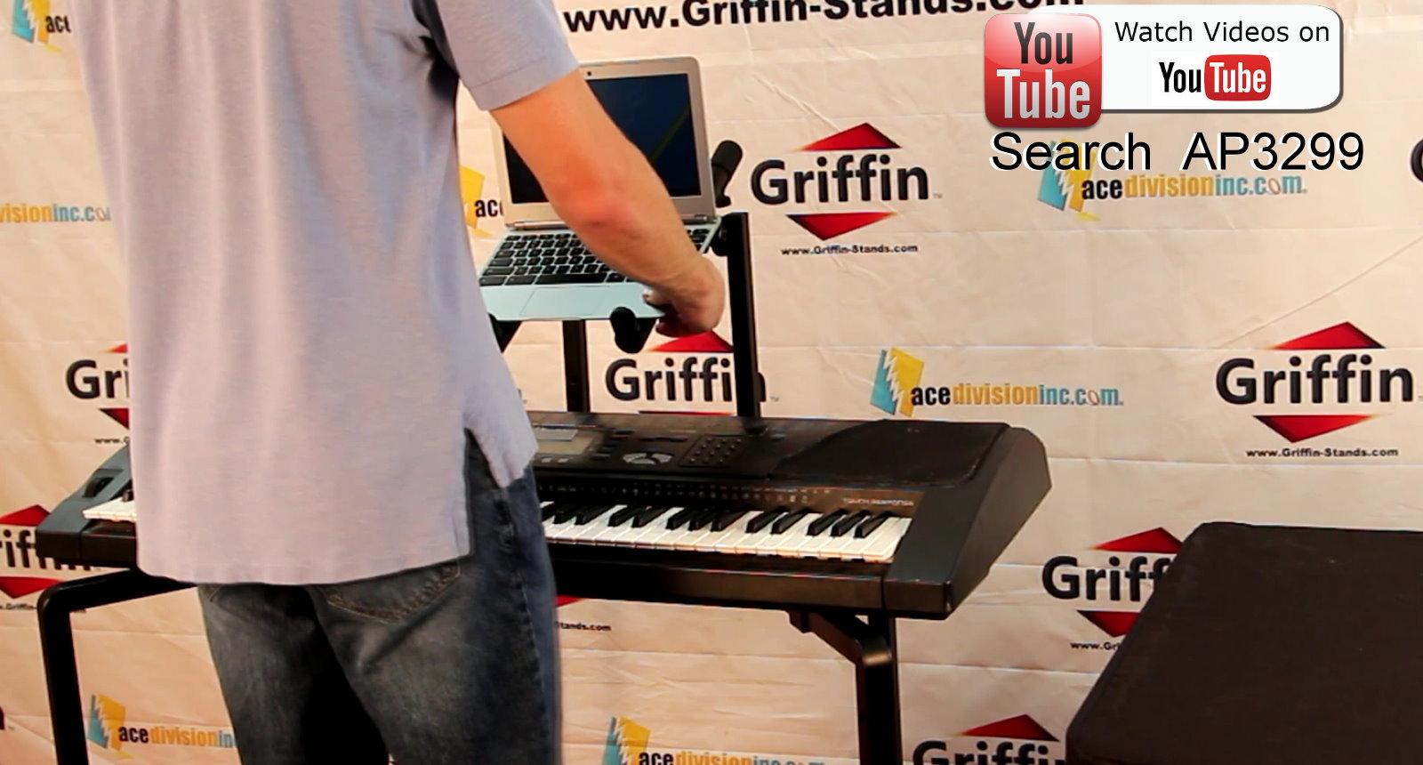 Double Keyboard Stand Studio Stage Mixer Turntable Dj