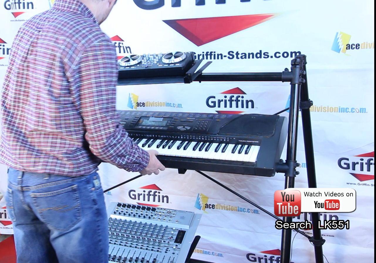 Triple Keyboard Stand 3 Tier A Frame Holder Studio Mount