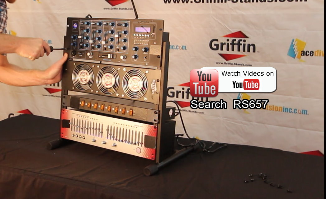 Studio Rack Mount Stand Griffin Recording Mixer