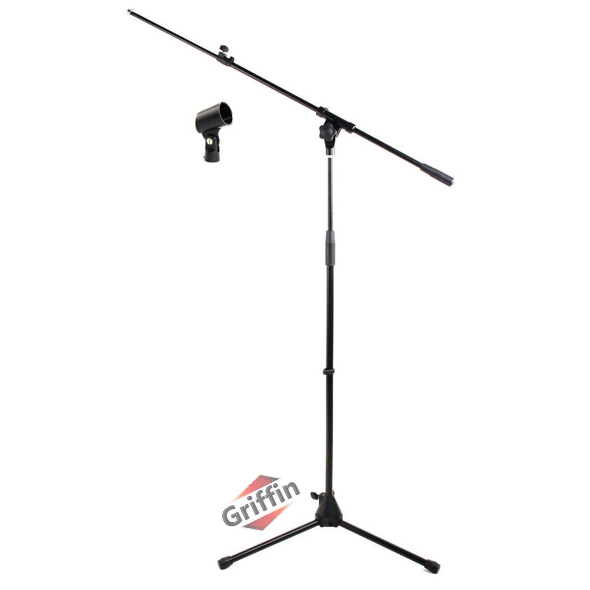 Telescoping Microphone Stand with Mic Clip Boom Arm Tripod Style by Griffin