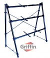 3 Tier Keyboard Stand by Griffin | Triple A-Frame Standing Synthesizer Mixer Holder with Adjustable Height | Pro Audio Stage Performance / Recording Studio Hardware for Music Schools, DJs, Bands, Churches