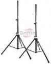 PA Speaker Stands Set Pro-Audio Tripod DJ Monitor Stage Stand 110 LB Load Capacity Load 2 pack by Griffin